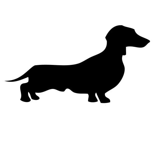 Dachshund Suasage Dog Silhouette Vinyl Sticker