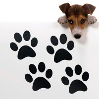 4X Paw Shaped Gloss Vinyl Wall Car Stickers